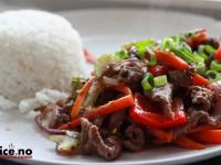 Kinesiskinspirert pepperbiff